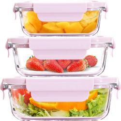 Het hete Verkopende Plastiek van de Containers van de Maaltijd van de Container van het Voedsel van het Glas van de Opslag van de Keuken Vastgestelde Vacuüm Prep met Lage Prijs