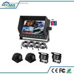 디지털 컬러 LCD 쿼드 모니터 및 슈퍼 CCTV 시스템 넓은 카메라