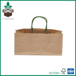 Brown biodegradables ecológica 120g Bolsa de papel Kraft de empaquetado de alimentos