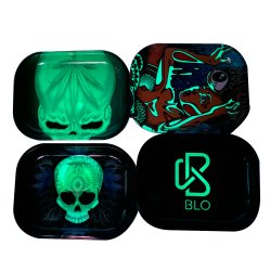 New Arrival Metal Custom Rolling Tray Glow in Dark Wholesale China Roken kleine Tin gloeiende Rolling Tray China Factory