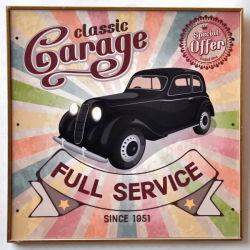 Custom Retro Vintage gasolina automático de estaño metálico signos