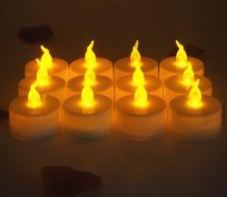 Indicatore luminoso senza fiamma della candela di natale LED