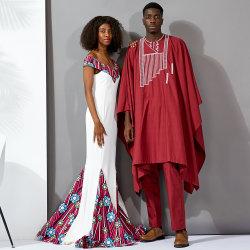Dh138 African Wax Fashion Kleding Shirt en Broeken voor heren en BAT Coat drie stukken Sets