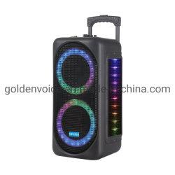 Potência ativa Carrinho Portátil de áudio de alto-falante OEM Caixa de som luz colorida Super Bass