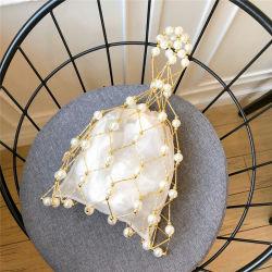 Leb1261 de Zakken van de Hand van de Parel van de Holle uit Geparelde Vrouwen van de Zak van de Koppeling van de Avond van de Beurs van de Parel van het Visnet Met de hand gemaakte
