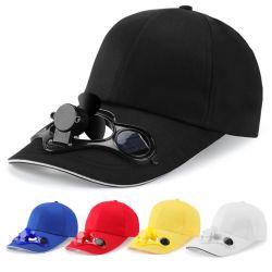 Nuovo arrivo 2021 nessun ventilatore alimentato solare del cappello di baseball del ventilatore della protezione della spiaggia delle batterie
