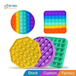 Fidget Pop игрушек, подчеркнуть Reliever цвета радуги купол игры по вопросам образования играет Совет чистого силиконового сжатия нажмите всплывающее окно его купол Fidget сенсорных игрушка