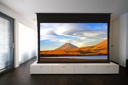 Потолок /настенное крепление перейдите на вкладку с электроприводом натянут проекционного экрана/электрический экран проектора