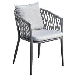 Современный балкон сад стул для использования вне помещений водонепроницаемая ткань из веревки для использования вне помещений кресло и кофейный столик, патио с садовой мебелью обеденный стул