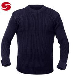 Lã de alta qualidade e os homens de acrílico suéter policial e militar pulôver.
