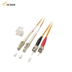 광학 LC/St 이중 점퍼 패치 코드 단일 금형/다중 금형 UPC/APC 2.0mm 3.0mm 광섬유