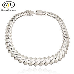 Woman Men 925 Sterling Silver Hip HopキューバのChain Fashion Jewelryのための卸し売りCheap Fine Imitation Diamond Zircon Stainless Steel Gold Copper Wedding Jewelry