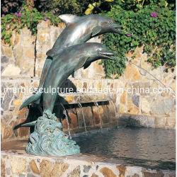 정원 분수에 대한 동상 동상 돌고래 조각상(B017)