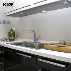Индивидуальные кухни мраморные акриловые твердой поверхности ванной комнатой на прилавке в левом противосолнечном козырьке