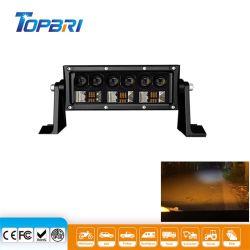 barra chiara automatica ambrata del punto LED dell'automobile di Lightbar del lavoro di 7.5inch 45W per fuori strada