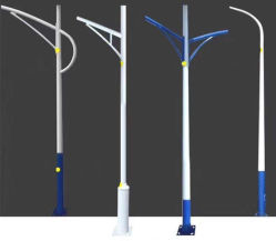 Solar Hepu/LED/Alto/Mástil/Iluminación/luz de la calle Ronda de la luz/ poligonal cónico de Octagon P235/345/DIP caliente/poste de acero galvanizado Post