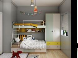 Nordische Art-modernes Grün scherzt Schlafzimmer mit Koje-Bett, Wardrobe&Writing Schreibtisch