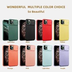 capa para telemóvel Hot Deals por grosso para iPhone 11 PRO Max, capa para telemóvel Protetor de lente deslizante da câmera colorida suave caso TPU para iPhone