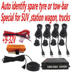 SUV, Kombiwagen, Kleintransporter, die Fühler mit dem Lernen der Funktion für Fahrzeug mit Reservereifen parken, Schleppseil-Stab oder Fahrrad-Halter, 4 Fühler-Tonsignal
