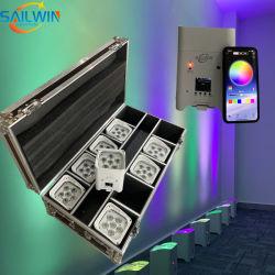APP Celular WiFi de Controle de LED da bateria luz PAR DJ iluminação de palco