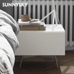precio de fábrica de muebles industriales modernos dormitorios mesita de noche con bastidor metálico refleja