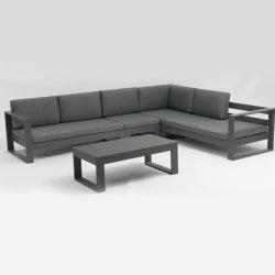 Insiemi di alluminio del sofà del panno del raggruppamento moderno semplice del giardino