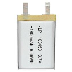 Hottest 3,7 V 103450 1800mAh batterie polymère de lithium pour appareil médical, appareils de consommation