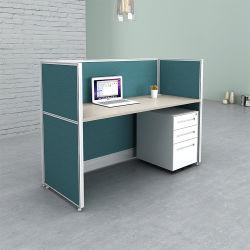 Design de Moda simples comercial moderna Barato preço grossista Monolugares pequeno cubículo do escritório para um povo Secretária