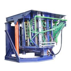 12t Coreless four à induction électrique de fréquence intermédiaire pour l'acier/fer à repasser/En acier inoxydable ou en alliage de cuivre/aluminium fonte /Casting