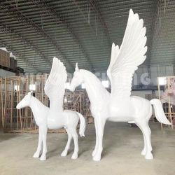 Indicatore luminoso esterno della scultura della statua del cavallo della resina della vetroresina della decorazione del parco a tema