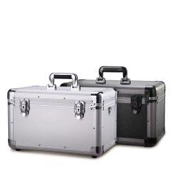 3-en-1 llevar Caja de herramientas con armazón de aluminio Caja de herramientas de espuma de plástico personalizada para el equipo