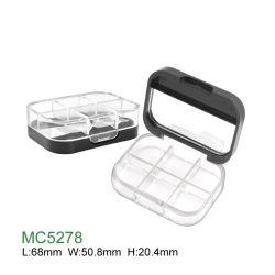 Cassa cosmetica personalizzata commercio all'ingrosso della gamma di colori vuota rotonda di plastica dell'ombretto con lo specchio