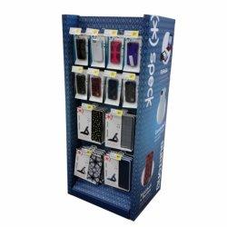 POS 셀룰라 전화 상자 마분지 장비를 광고하는 물결 모양 진열대