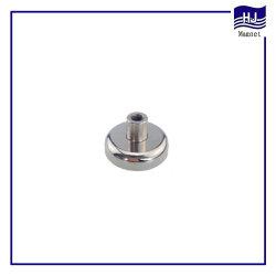 POT flessibile popolare del magnete del neodimio del cilindro con il rivestimento avvitato del nichel del Bush