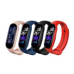 2021 Nouvelle arrivée Smart Bracelet M6 1,56 montre-bracelet d'affichage OLED Moniteur de fréquence cardiaque Fitness Sport Tracker Smart bande imperméable