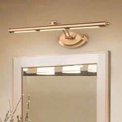 Europäische LED-Spiegel-Lampe Golden Badezimmer Kosmetik Wandleuchte Edelstahl Kosmetikschrank aus Stahl (WH-MR-04)