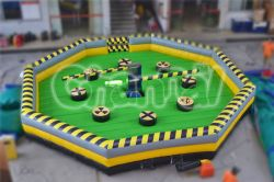 Opblaasbare Last Man Standing Inflatable Meltdown Inflatable Sport Games