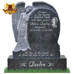 무료 문자 Angel Tombstone 묘역 장식 조각된 대리석 묘비