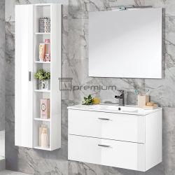 Белая мебель современная ванная комната с большой стороне шкафа электроавтоматики