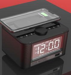 Зарядное устройство Wiresss M7 Qi радио с часами зарядка через USB