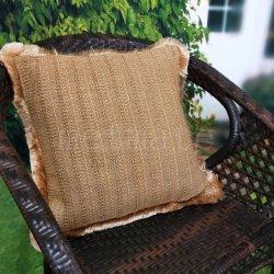 Eco Friendly matériel bon marché tissé en osier coussins de meubles de patio