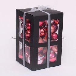 Christmas Ornaments Bille en plastique avec le package du pack peint