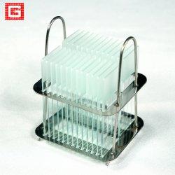Los consumibles de laboratorio los bordes sin triturar portaobjetos de microscopio y cubierta de vidrio