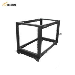 12U Open Frame Server Rack Network Cabinet Einstellbare Tiefe 4-Pfosten Datenserver-Rack