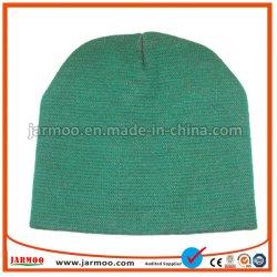 Beanie acrilico del cappello di inverno del ricamo delle donne degli uomini del Beanie lavorato a maglia Beanie in bianco normale su ordinazione poco costoso
