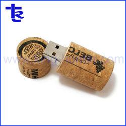 Le vin de Cork Lecteur de mémoire flash USB pour cadeau promotionnel
