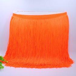 Comercio al por mayor de nylon de 20cm rosca doble fleco borla para bailar vestido