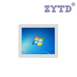 Sin ventilador blanco de 17 pulgadas de pantalla táctil de escritorio PC Intel Bay Trail J1900 procesador Win10 PRO