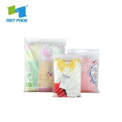 Haut de page Zip sac en plastique de vinyle transparent en PVC d'emballage alimentaire Sacs à fermeture à glissière avec des vêtements