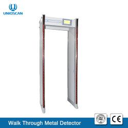 屋外の使用を金属探知器を通してゲートの歩行を点検する高い信頼性33のゾーンの機密保護